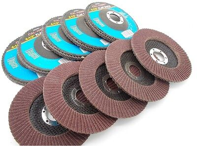 "Free Ship*lot Of 10-4 1/2"" X 7/8"" Flap 40 Grit Wheel/disc Aluminum Oxide"