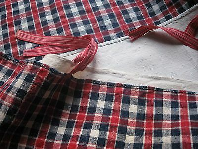 ANTIQUE FRENCH LINEN KELSCH -Small Duvet Cover Kelsch -Red & Blue Kelsch -Alsace