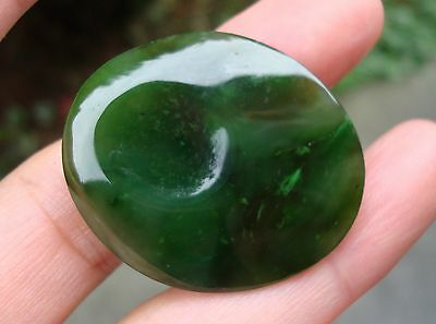 Top Grade Polar  Jade  Hand Carved Worry Stone Highly Polished Palm Stone