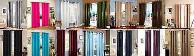 2 Grommet Panel Texture Window Curtains Foam Lined 99% Blackout Thermal K34 108""