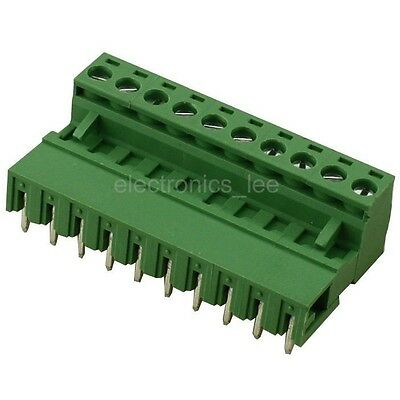 10pcs 2EDG 10Pin Plug-in Screw Terminal Block Connector 5.08mm Pitch Right Angle