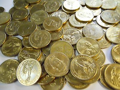 Lot of $20 in Circulated Better Gold Presidential Dollars. 2007-2011 Most Denver