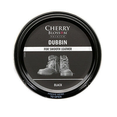 Cherry Blossom Premium Dubbin Shoes Boots  Care Smooth Leather 50ml Black