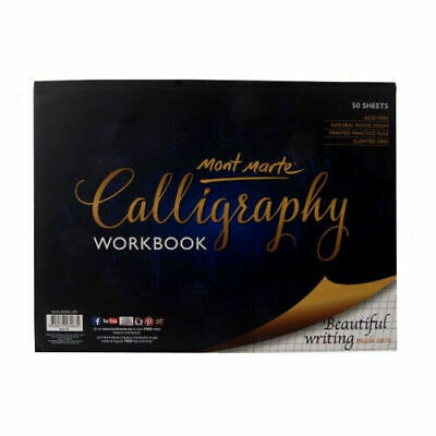 Mont Marte Calligraphy Workbook 22.9 * 30.5 cm 50 sheet with Slanted Grid