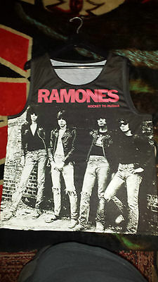 Ramones -  Rocket To Russia Tank Top shirt,  Sublimation print, Mens Size : XL