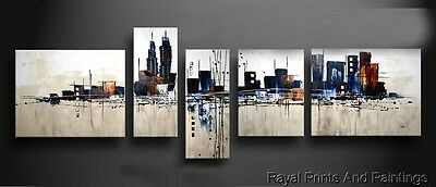 Amazing Abstract Skyline Painting | Framed | Office Home Decor | Group Art
