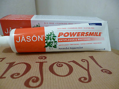 Jason Power Smile Natural Toothpaste Anti Plaque Whitening Peppermint 170g