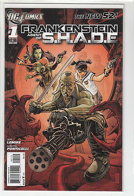 FRANKENSTEIN AGENT OF SHADE (2011 DC COMICS) #1 NM- 2nd Print A12198