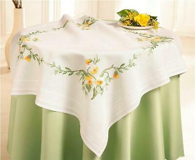Deco-Line Freestyle Embroidery Tablecloth Kit - Pansies