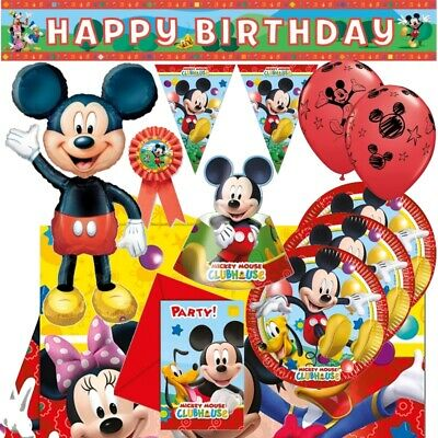 Mickey Mouse Playful 8-48 Guest Starter Party Pack - Cups | Plates | Napkins