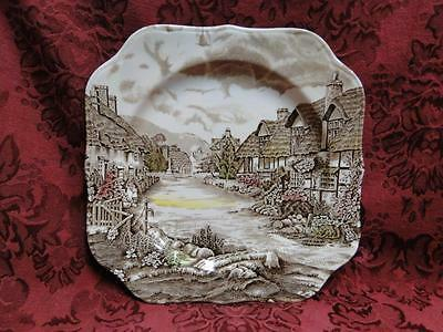 Johnson Brothers Olde English Countryside, Multi: Square Salad Plate (s) Crazed