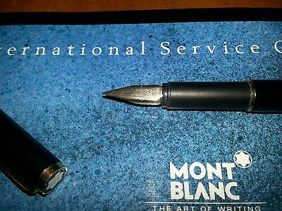 """Vintage """"Montblanc Noblesse"""" Fountain Pen-Matt Black-Made in Germany 1970s"""
