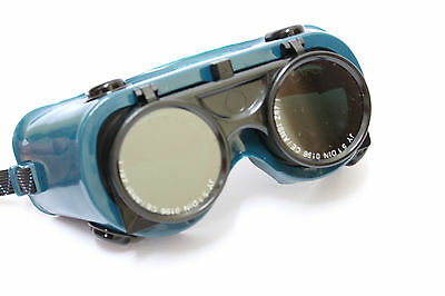 Safety Oxy Welding Protective Goggles Glasses Flip Front Solder Grinding Cutting