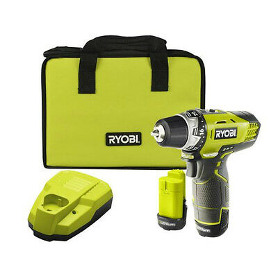 New Ryobi 12V Cordless Drill Driver With 2 1.3AH Batteries
