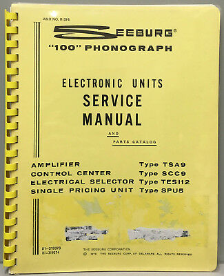 Jukebox Manual - Seeburg 100 Electronic Units Service & Parts  - Amr R-374