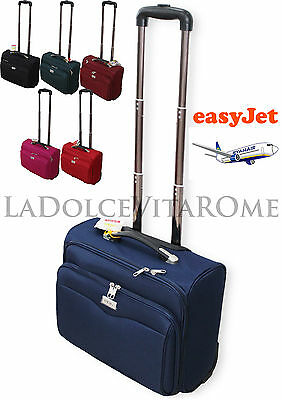 TROLLEY VALIGIA PILOTA BAGAGLIO A MANO RYANAIR EASY JET LOW COST Tasca Laptop