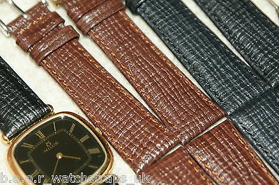 Luxury Italian Leather Padded Stitched Watch Strap 13-15mm 17-19mm Tool & Bars