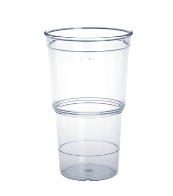 20er Set ECO Cup 0,25l PC glasklar - Kunststoff