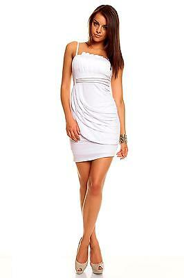 Womens Embellished Layered Evening Sexy Zip Bodycon Mini Dress size 8 10