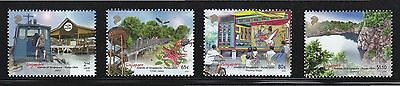 Singapore 2014 Pulau Ubin Island Comp. Set Of 4 Stamps In Mint Mnh Unused Condit