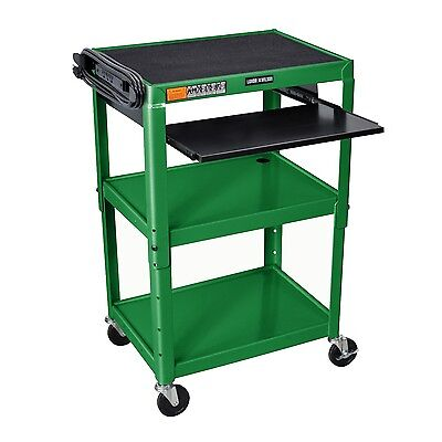 """Offex Adjustable Height Multipurpose 42"""" Steel Table Pullout Tray - Green"""