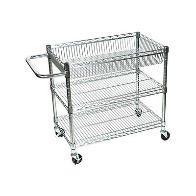 Offex LICWT2918 - Large Wire Tub Cart - Three Shelves