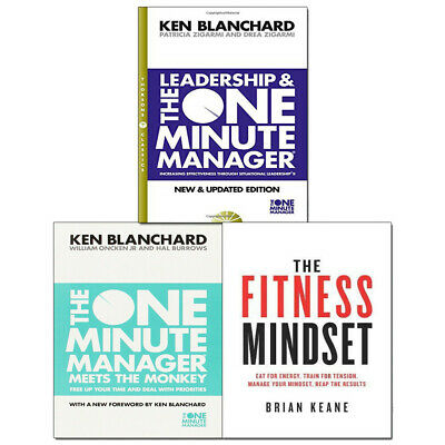 Fitness Mindset,One Minute Manager 3 Books Collection Pack Set Meets the Monkey