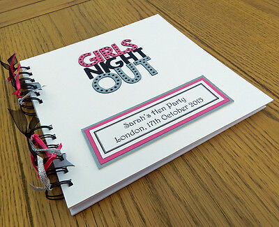 Hen Party Guest Book Girls Night Out Memory Album Scrapbook Personalised Gift