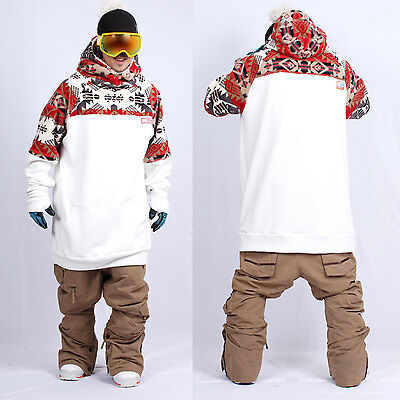 December long tall hoodie ski snowboard sports-gaia white