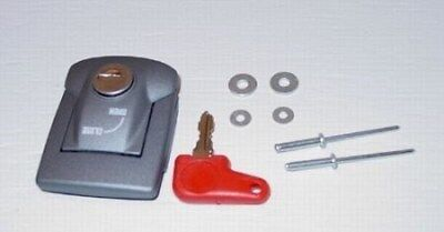 Hepco & Becker Latch Assembly Lock & Key For Lid to Case - Silver