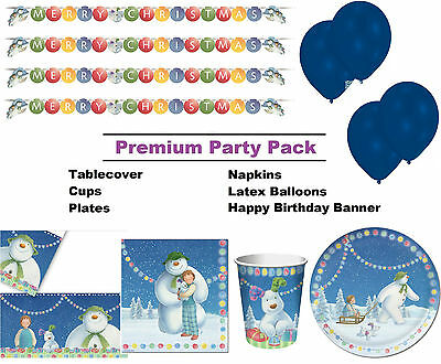 Snowman and the Snowdog 8-48 Guest Premium Party Pack - Tableware | Decorations