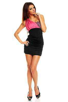 Womens Bodycon Sexy Contrast Party One Shoulder Beaded Mini Dress size 8 10 12