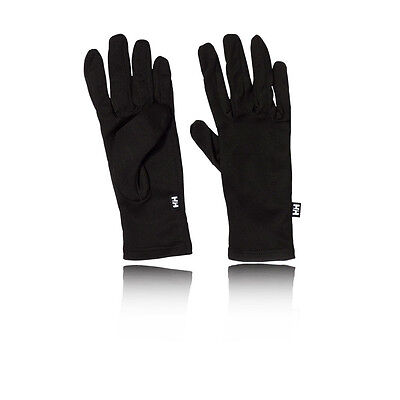 Helly Hansen Mens Womens Black Dry Running Cycling Wrist Gloves Liners