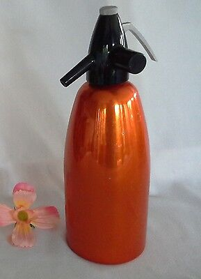 RETRO vintage orange anodised SODA SYPHON Hungary LEHEL VGVC