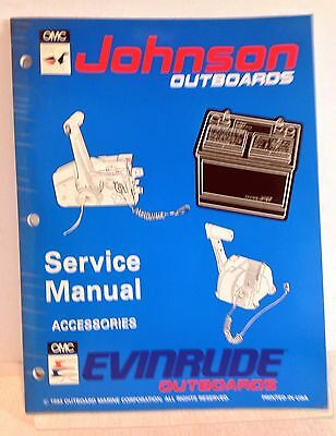 """Johnson Evinrude Outboards OMC Service Manual """"ER"""" Accessories 1993 (2780)"""