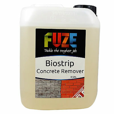 Biostrip Concrete Remover 5 Litres- Cement, Mortar, Efflorescence cleaner.