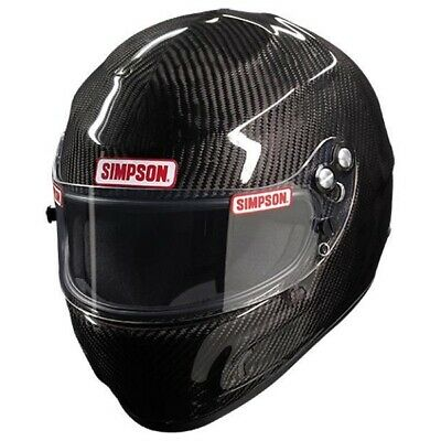 Simpson Carbon Devil Ray Auto Racing Helmet SA2015 - All Sizes (Free Bag)
