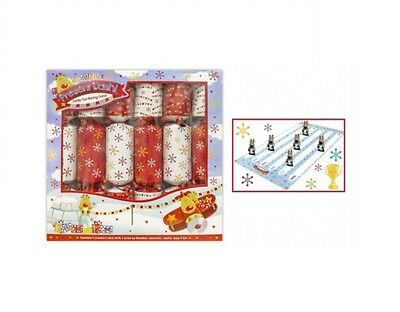 Pack Of 6 Family Crackers Racing Rudolph Christmas Game Crackers WindUp Reindeer