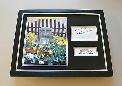 Tommy Stack & Brian Fletcher Signed Framed 16x12 Photo Red Rum Autograph Display