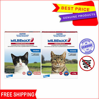 Milbemax Allwormer Tablets For Cats All Sizes 2 Tablets by Novartis AU Seller