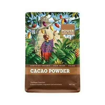Organic Cacao Powder Power® Super Food Raw Natural Cocoa Health 500g
