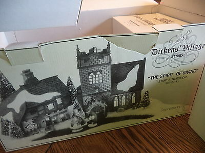 """Dept 56 Dickens' Village Series """"The Spirit of Giving"""" Start A Tradition 58322"""