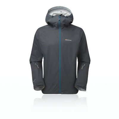 Montane Mens Atomic Grey PERTEX Waterproof Outdoors Sports Hooded Jacket