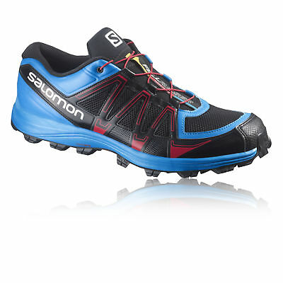 Salomon Fellraiser Fell Mens Blue Black Running Trainers Pumps Sports Shoes