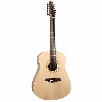 Seagull Walnut 12-String Maple Neck Solid Spruce Top Acoustic Guitar - Natural