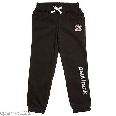 Paul Frank Julius The Monkey Joggers Girl's Pants Black Size Medium