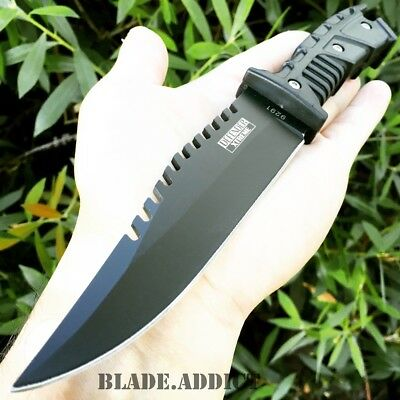 "10"" FULL TANG TACTICAL SURVIVAL Rambo Hunting FIXED BLADE KNIFE Army Bowie"