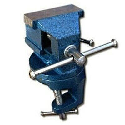 60mm MINI CLAMP ON SWIVEL BASE BENCH VICE TABLE TOP WORKBENCH DESK