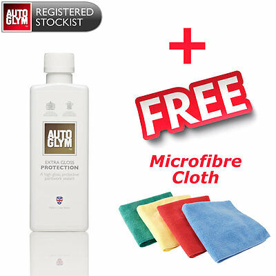 Autoglym Extra Gloss Protection 325ml - Super Tough Polish + FREE Microfibre Clo