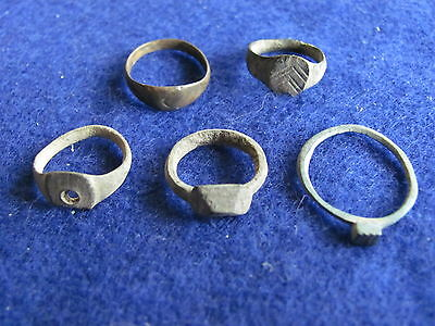 RARE Lot (5)Roman Bronze child rings  1st to 5th cent. A.D.